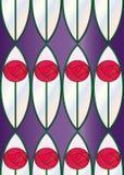άνευ ραφής λεκιασμένο κεραμίδι τριαντάφυλλων γυαλιού Στοκ Εικόνα
