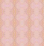 Άνευ ραφής λεπτό αναδρομικό ρόδινο πορτοκάλι σχεδίων διανυσματική απεικόνιση