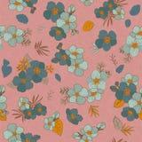 Άνευ ραφής λουλούδια σχεδίων για το σχέδιο και τη διακόσμησή σας Τρύγος Στοκ εικόνες με δικαίωμα ελεύθερης χρήσης
