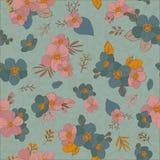 Άνευ ραφής λουλούδια σχεδίων για το σχέδιο και τη διακόσμησή σας Τρύγος Στοκ Φωτογραφίες