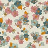 Άνευ ραφής λουλούδια σχεδίων για το σχέδιο και τη διακόσμησή σας Τρύγος Στοκ φωτογραφία με δικαίωμα ελεύθερης χρήσης