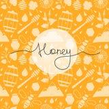 Άνευ ραφής μέλι σχεδίων Στοκ Εικόνες