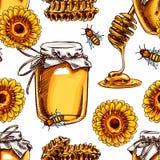 Άνευ ραφής μέλι διανυσματική απεικόνιση