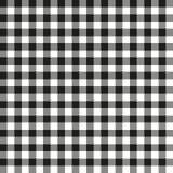 Άνευ ραφής μαύρη ελεγμένη σύσταση υποβάθρου σχεδίων υφάσματος Στοκ Εικόνες