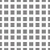 Άνευ ραφής μαύρο αφηρημένο σχέδιο γραμμών με το άσπρο υπόβαθρο Στοκ Φωτογραφίες