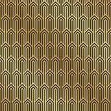 Άνευ ραφής μαύρο και χρυσό υπόβαθρο σχεδίων του Art Deco Υπόβαθρο deco τέχνης απεικόνιση αποθεμάτων