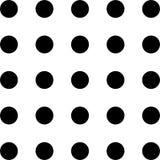 Άνευ ραφής μαύρο σχέδιο μπιζελιών, διαστιγμένο υπόβαθρο σε ένα άσπρο υπόβαθρο Στοκ εικόνα με δικαίωμα ελεύθερης χρήσης