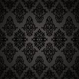 Άνευ ραφής μαύρο σχέδιο στο αραβικό ύφος Στοκ εικόνες με δικαίωμα ελεύθερης χρήσης