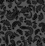 Άνευ ραφής μαύρο υπόβαθρο του Paisley Απεικόνιση αποθεμάτων
