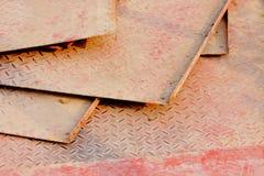 Άνευ ραφής μεταλλικό πιάτο διαμαντιών Στοκ εικόνα με δικαίωμα ελεύθερης χρήσης