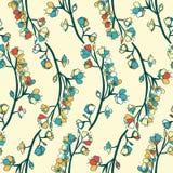 Άνευ ραφής μικροσκοπικό floral σχέδιο Στοκ Φωτογραφίες