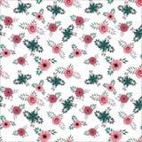 Άνευ ραφής μικρό floral σχέδιο μέσα στοκ εικόνα