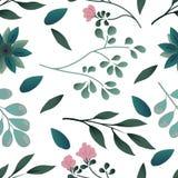 Άνευ ραφής μικρό floral σχέδιο στο διάνυσμα στοκ εικόνες