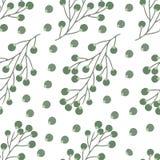Άνευ ραφής μικρό floral σχέδιο στο διάνυσμα στοκ εικόνα