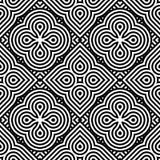 Άνευ ραφής μονοχρωματικό γεωμετρικό σχέδιο σχεδίου Στοκ εικόνα με δικαίωμα ελεύθερης χρήσης