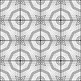 Άνευ ραφής μονοχρωματικό γεωμετρικό σχέδιο σχεδίου απεικόνιση αποθεμάτων