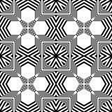 Άνευ ραφής μονοχρωματικό γεωμετρικό σχέδιο σχεδίου Στοκ Εικόνες