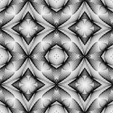 Άνευ ραφής μονοχρωματικό γεωμετρικό σχέδιο σχεδίου Στοκ Φωτογραφία