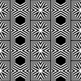 Άνευ ραφής μονοχρωματικό γεωμετρικό σχέδιο σχεδίου Στοκ Φωτογραφίες