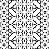 Άνευ ραφής μονοχρωματικό γεωμετρικό σχέδιο σχεδίου Στοκ Εικόνα