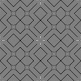 Άνευ ραφής μονοχρωματικό γεωμετρικό σχέδιο σχεδίου Στοκ φωτογραφία με δικαίωμα ελεύθερης χρήσης