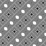 Άνευ ραφής μονοχρωματικό γεωμετρικό σχέδιο σχεδίου διανυσματική απεικόνιση