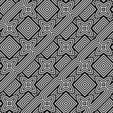 Άνευ ραφής μονοχρωματικό γεωμετρικό σχέδιο σχεδίου Στοκ φωτογραφίες με δικαίωμα ελεύθερης χρήσης