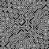 Άνευ ραφής μονοχρωματικό γεωμετρικό σχέδιο σχεδίου Στοκ εικόνες με δικαίωμα ελεύθερης χρήσης