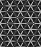 Άνευ ραφής μονοχρωματικό γεωμετρικό σχέδιο των έξι-δειγμένων αστεριών στο α Στοκ Εικόνα