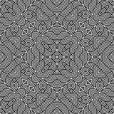 Άνευ ραφής μονοχρωματικό διακοσμητικό σχέδιο σχεδίου Στοκ Εικόνα