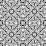 Άνευ ραφής μονοχρωματικό διακοσμητικό σχέδιο σχεδίου Στοκ φωτογραφία με δικαίωμα ελεύθερης χρήσης