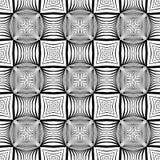 Άνευ ραφής μονοχρωματικό διακοσμητικό σχέδιο σχεδίου Στοκ εικόνες με δικαίωμα ελεύθερης χρήσης