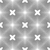 Άνευ ραφής μονοχρωματικό διακοσμητικό σχέδιο σχεδίου Στοκ Φωτογραφίες