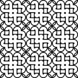 Άνευ ραφής μονοχρωματικό διακοσμητικό σχέδιο σχεδίου Στοκ Εικόνες