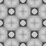 Άνευ ραφής μονοχρωματικό ριγωτό σχέδιο σχεδίου Στοκ Φωτογραφίες