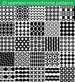 άνευ ραφής μονοχρωματικό σχέδιο 25 άνευ ραφής διάνυσμα προτύπων Στοκ Φωτογραφίες