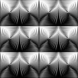 Άνευ ραφής μονοχρωματικό σχέδιο κοχυλιών σχεδίου Στοκ Εικόνα