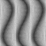 Άνευ ραφής μονοχρωματικό σχέδιο σημείων σχεδίου Στοκ εικόνες με δικαίωμα ελεύθερης χρήσης