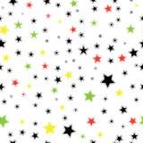 Άνευ ραφής μονοχρωματικό υπόβαθρο αστεριών Πρότυπο για Στοκ Φωτογραφία