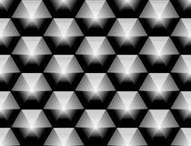 Άνευ ραφής μονοχρωματικό hexagon σχέδιο σχεδίου διανυσματική απεικόνιση