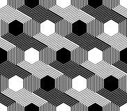 Άνευ ραφής μονοχρωματικό hexagon σχέδιο σχεδίου Στοκ Φωτογραφίες