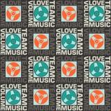 Άνευ ραφής μουσική αγάπης σχεδίων Στοκ εικόνα με δικαίωμα ελεύθερης χρήσης