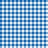 Άνευ ραφής μπλε ελεγμένη σύσταση υποβάθρου σχεδίων υφάσματος Στοκ Εικόνες