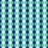 Άνευ ραφής μπλε και τυρκουάζ σύσταση σχεδίων υποβάθρου διαμαντιών harlequin Στοκ Φωτογραφίες