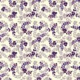 Άνευ ραφής μπλε RAD σχεδίων φύλλα Watercolor Στοκ Εικόνες