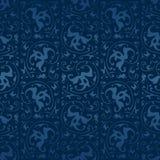Άνευ ραφής μπλε εκλεκτής ποιότητας διανυσματικό υπόβαθρο Στοκ Εικόνες