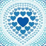 Άνευ ραφής μπλε διάνυσμα υποβάθρου καρδιών αφηρημένο Στοκ εικόνες με δικαίωμα ελεύθερης χρήσης