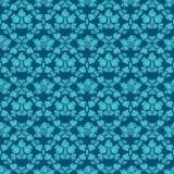 Άνευ ραφής μπλε διακόσμηση υποβάθρου Στοκ εικόνα με δικαίωμα ελεύθερης χρήσης