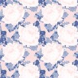 Άνευ ραφής μπλε και ρόδινο αφηρημένο σχέδιο με τα τριαντάφυλλα κρύβοντας διάνυσμα φιδιών εικόνων λαβυρίνθου κυνηγιού Στοκ Φωτογραφία
