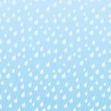 Άνευ ραφής μπλε σχέδιο με τις σταγόνες βροχής Στοκ Εικόνα